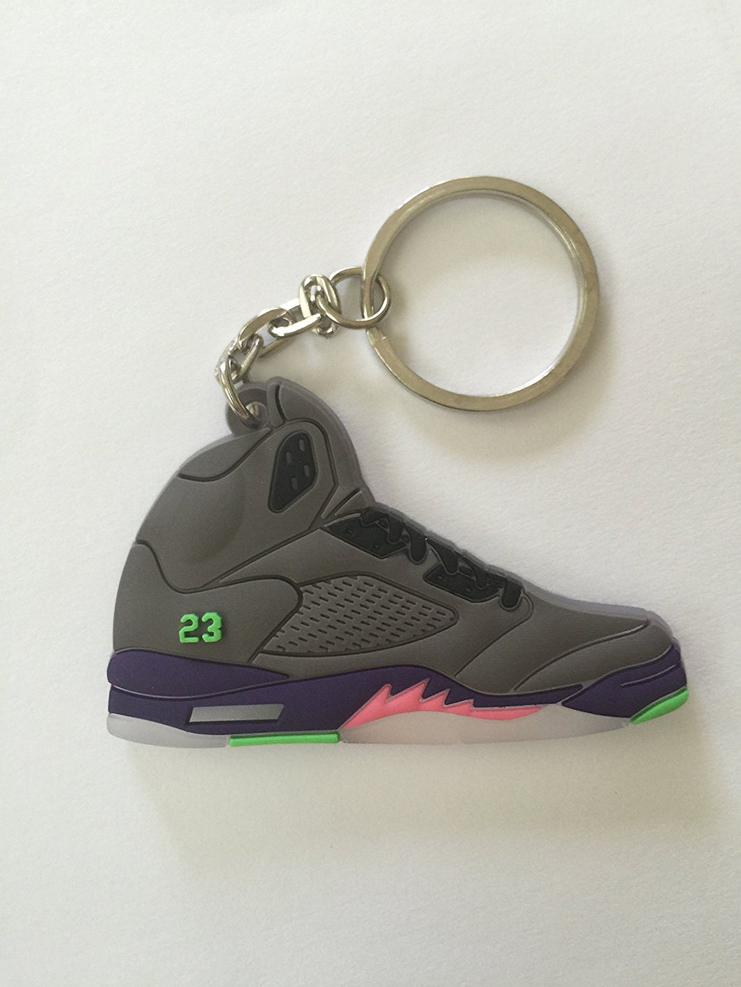 Air Jordan 5 Gray Sneakers Shoes Keychain Keyring