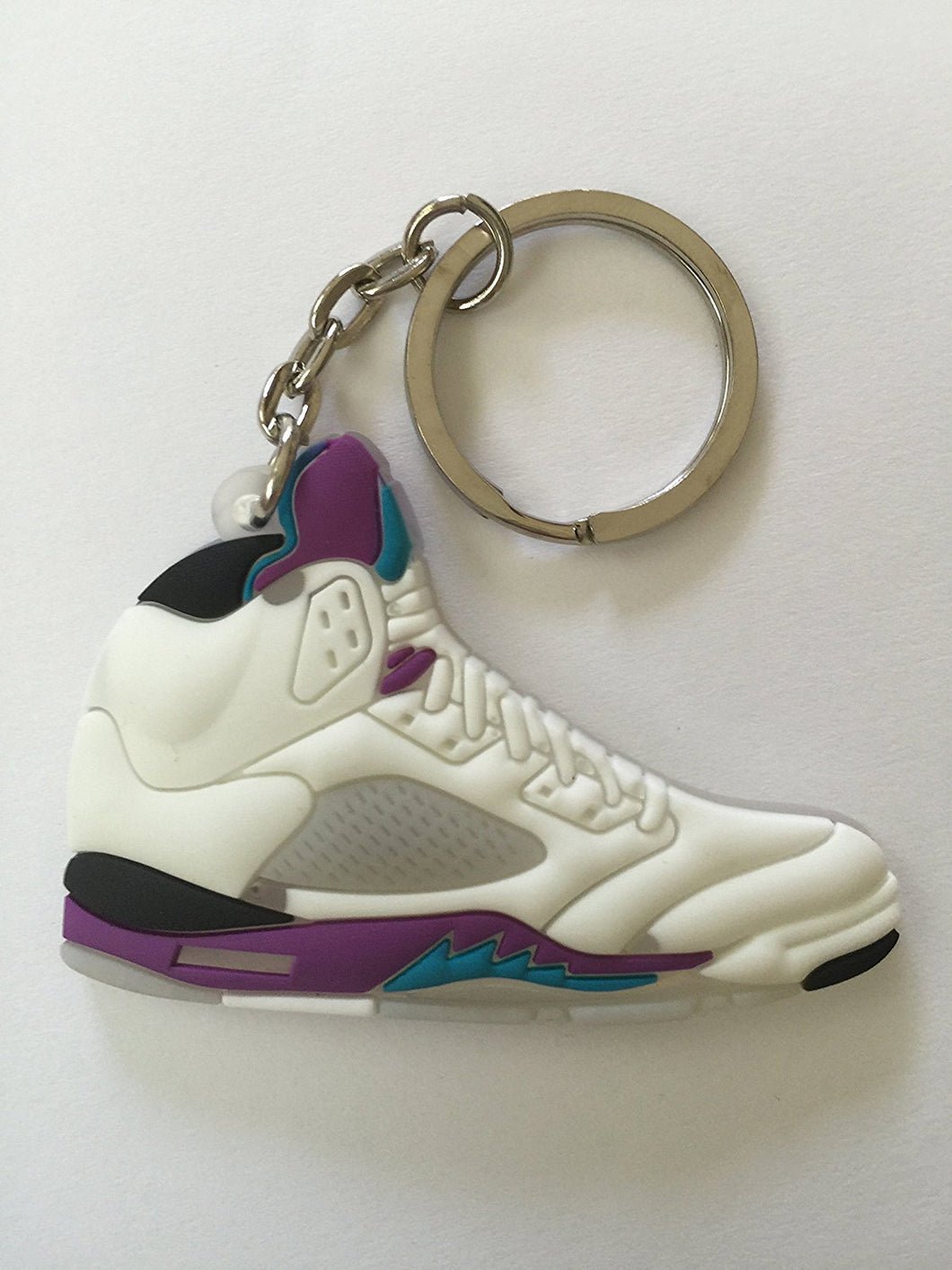 Air Jordan 5 White Grapes Sneakers Shoes Keychain Keyring