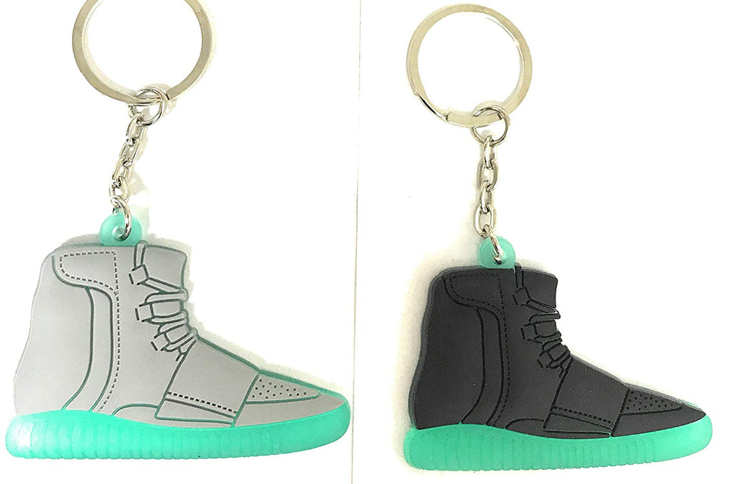 yeezy black and green shoe keychain (black one only)