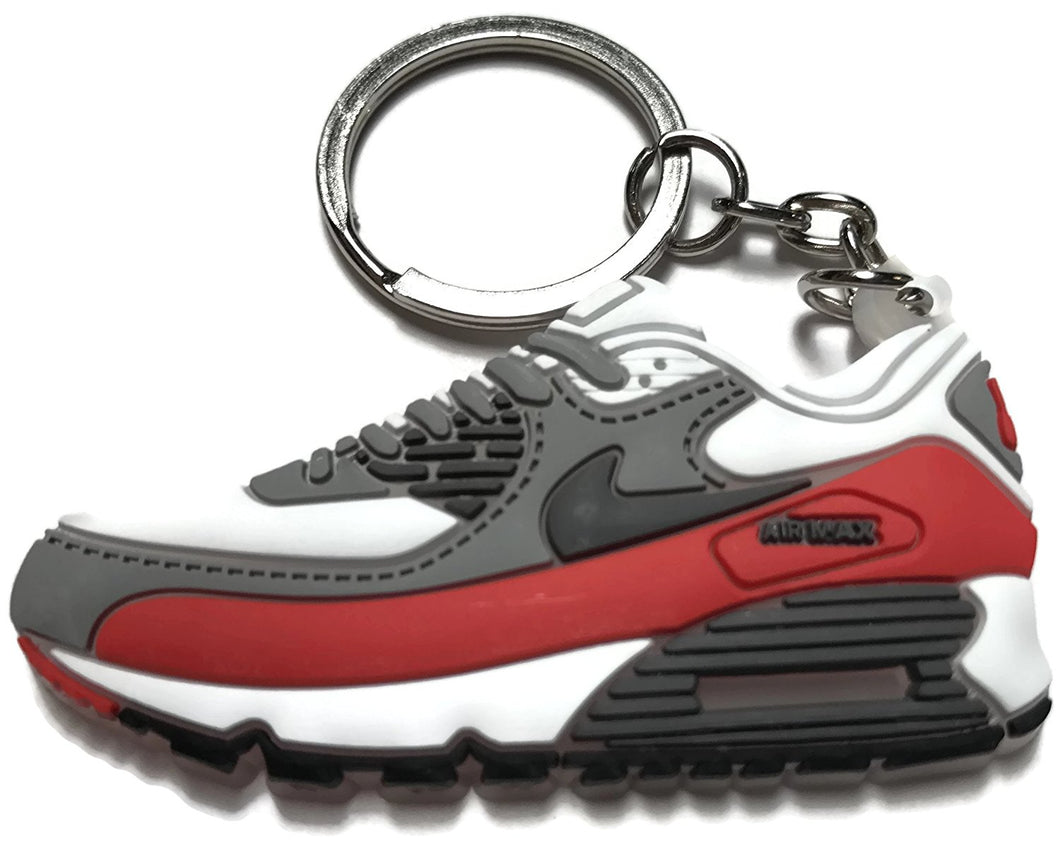 Nike Air Max White Gray Red Keychain