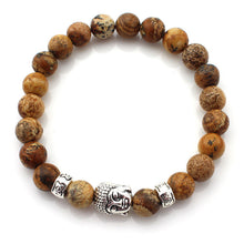 (3 pcs/lot) Natural Stone Buddha Bracelets Multicolor Bracelet Wristband For Women Men