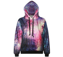 "EDM EDC "" Lost In the Woods "" Graphic Hoodie Tech Gear Collection"