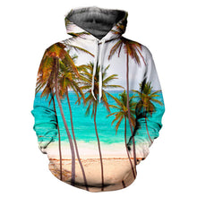"EDM EDC "" Coastal Palms "" Graphic Hoodie Tech Gear Collection"
