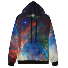 "EDM EDC "" The Milky Way "" Graphic Hoodie Tech Gear Collection"