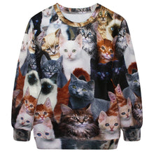 Cat Lover Hoodie Jacket Long Sleeve 3-d Printed Sublimation Sweater For Men Or Women