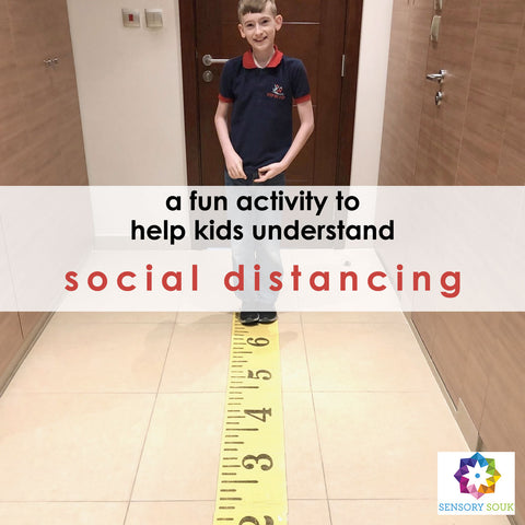 A fun activity to help kids understand social distancing