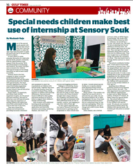 Special Needs Children Make Best Use of Internship at Sensory Souk