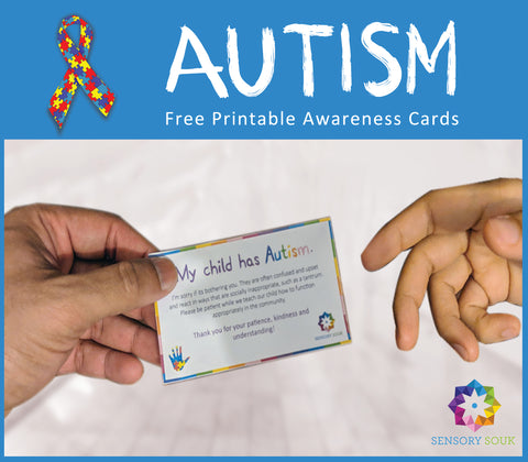 Autism Awareness Information Card | Free Printable!