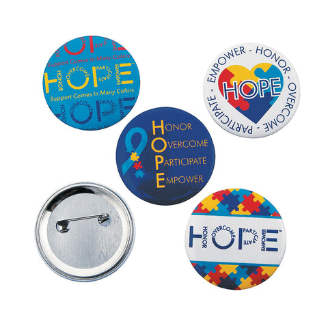 Autism Awareness Hope Buttons
