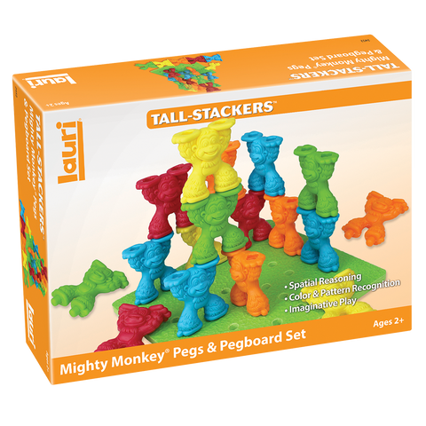 Tall-Stacker Mighty Monkey Pegs & Pegboard Set