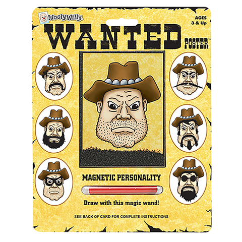 Wooly Willy Magnetic Wanted Poster