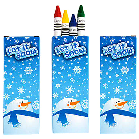 let it snow crayons