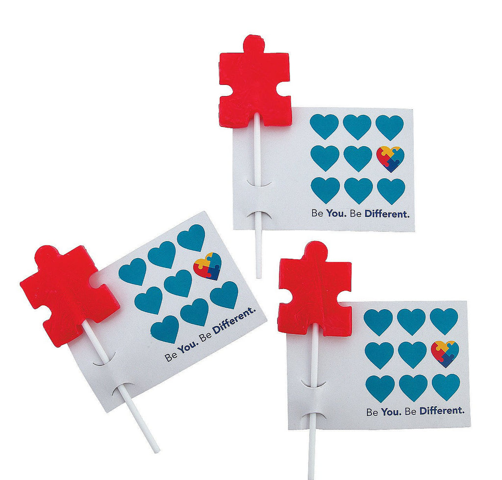 Autism Awareness Lollipops with Cards