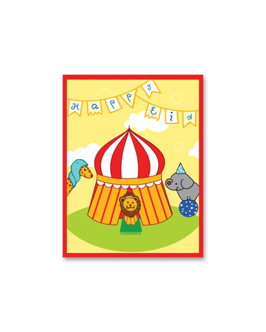 Eid: Big Top Circus Eid Greeting Cards