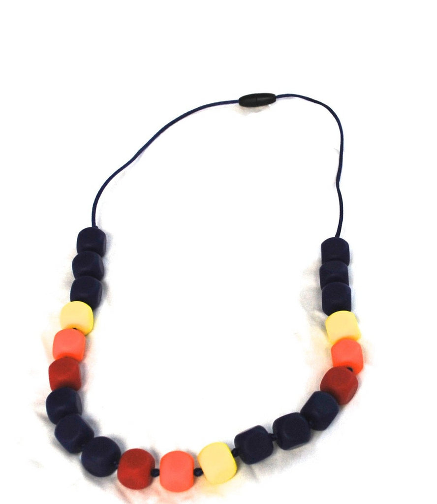 Rainbow Bead Chew Necklace