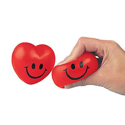 Squeeze Ball Smiley Hearts
