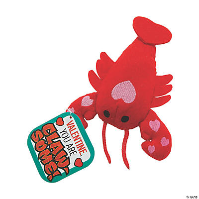 Plush Valentine Lobster with Card