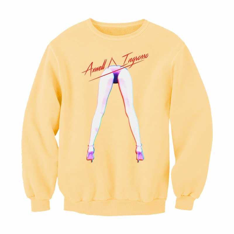 Axwell Λ Ingrosso Yellow Pastel Legs Sweater