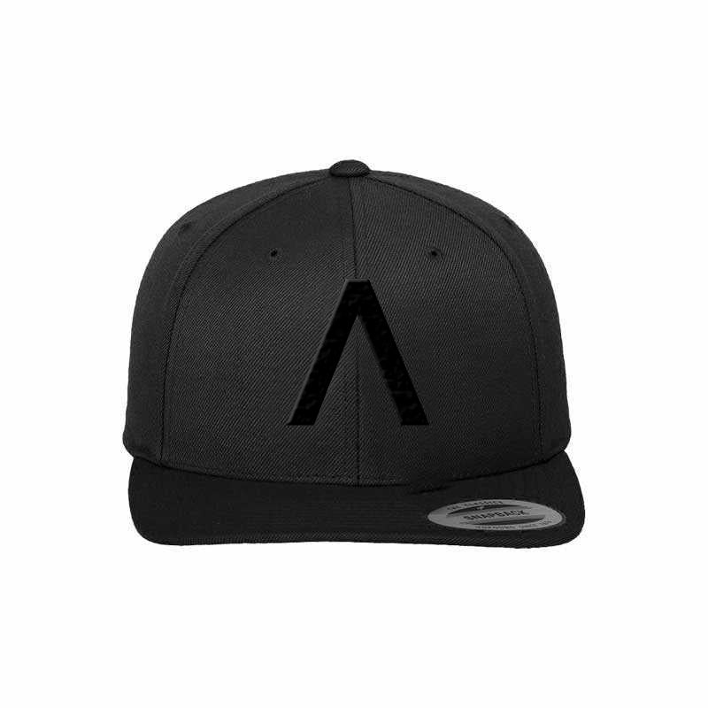 Axwell Λ Ingrosso Black on Black snapback cap