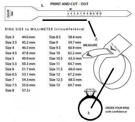 Ring Size Chart For Printing Online Jewellery Shop
