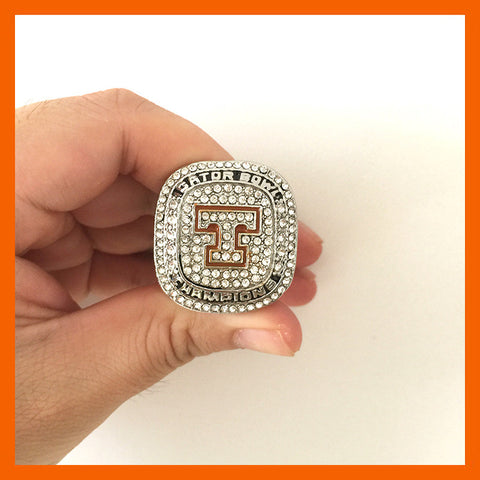 2015 TENNESSEE VOLUNTEERS MEN'S FOOTBALL GATOR BOWL COLLEGE CHAMPIONSHIP RING - onlinejewelleryshopaus