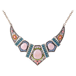 2016 New Design High Quality Jewelry Fashion Women Colorful Resin Acrylic Statement Collar Necklace Choker Necklaces & Pendants - onlinejewelleryshopaus
