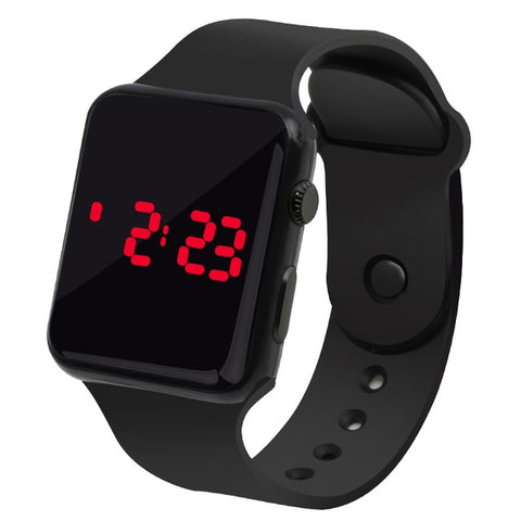 Sport Digital Watch Men Women Army Fitness LED Date Display Square Dial Silicone Bracelet Watches Electronic Kids Boy Clock Hour