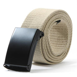 Unisex Waist Belt Mens Boys Plain Webbing Waistband Casual Canvas Belt - onlinejewelleryshopaus