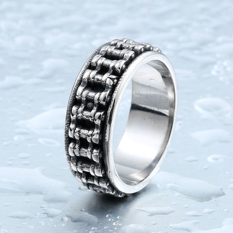 BEIER New Biker Bicycle Chain Ring For Man Stainless Steel New Designed Man's Motorcycle Ring For Man BR8-301 - onlinejewelleryshopaus