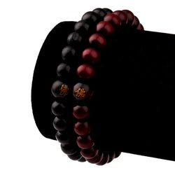 NYUK 2016 New Hot Hip Hop Men Wood Beads Bracelets Sandalwood Buddhist Buddha Meditation Prayer Bead Bracelet Wooden Jewelry - onlinejewelleryshopaus