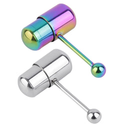 New 1pc Cool Vibrating Barbell Tongue Piercing Stainless Steel Body Jewelry Top Quality - onlinejewelleryshopaus