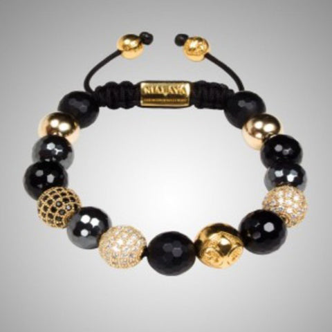 NY-B-509 Wholesale africa Shamballa bracelets for women men DIY CZ crystal gold balls beads shamballa jewelry free shipping - onlinejewelleryshopaus