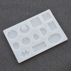 COCOTINA 12 Designs Cabochon Silicon Mold Mould For Epoxy Resin Jewelry Making DIY Craft D01241 - onlinejewelleryshopaus
