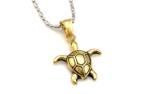 2015 Fashion Gold/Silver Classic Animals Turtles Pendant Necklace Cute Little Stainless Steel Jewelry for Women GP1572 - onlinejewelleryshopaus