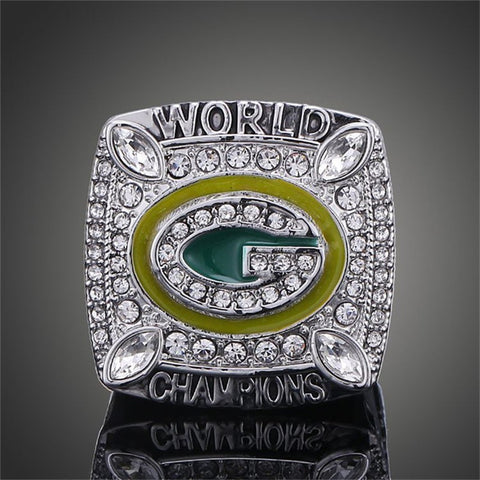 Replica Wisconsin Green Bay Packers Super Bowl Rings Elite QB Aaron Rodgers MVP Sports Replica Champ Ring Men jewelry souvenirs - onlinejewelleryshopaus