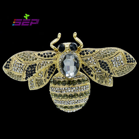 2016 Classic Insect Animal Bee Brooch Pins Crystals Rhinestone Broaches for Women Jewelry Accessories 8 Color Free Shipping 6608 - onlinejewelleryshopaus
