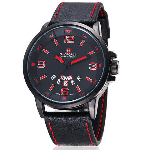 2016 Brand NAVIFORCE Watches men Casual Quartz reloj Leather wristwatch Army Military reloj hombre men's clock relogio masculino - onlinejewelleryshopaus