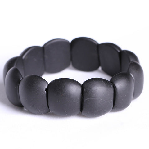 100% Real Black Bianshi Jade Bracelet Health Benefit Banichi Natural Black Stone Bracelets For Men and Women Jade Jewelry - onlinejewelleryshopaus