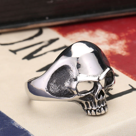 Wholesale skull ring vintage accessories gothic punk rock men finger rings quality 316L STAINLESS Steel BR8014 US size - onlinejewelleryshopaus