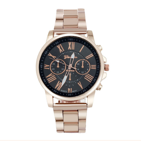 2015 New Arrival Luxury Stylish Women's Men's Watches,Fashion Roman Number Geneva Stainless Steel Analog Quartz Dial Wrist Watch - onlinejewelleryshopaus