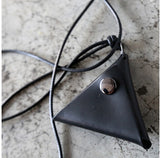2015 new fashion Leather triangle pendant necklace free shipping SP0011 - onlinejewelleryshopaus