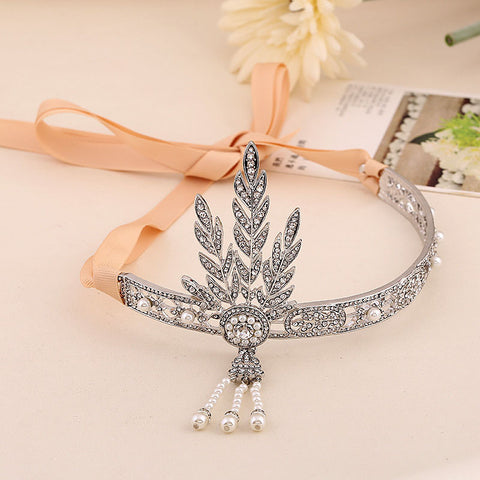 1920s Flapper Great Gatsby Hair jewelry Wedding Headband vintage hair accessories coroa noiva head chain - onlinejewelleryshopaus