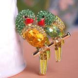 2015 Rhinestone Magpie Brooches Hat Accessories Scarf Clips Gold Plated Women Broche Broach Valentine's Day Gift for Best Love - onlinejewelleryshopaus