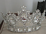 2015 royal crown gold/silver rhinestone tiara head jewelry quinceanera royal queen crown bride wedding mariage hair accessories - onlinejewelleryshopaus