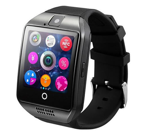 New Q18 Passometer Smart watch with Touch Screen Camera TF card Bluetooth smartwatch For Android/IOS Mobile Phone Apro DZ09 GT08 - onlinejewelleryshopaus
