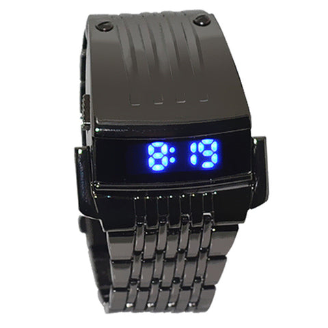 2015 Drop Shipping! Luxury Brand Watches Men Watch Relogio Masculino Men Stainless Steel Men Blue LED Digital Sport Wrist Watch - onlinejewelleryshopaus