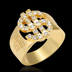 Classic Hip Hop Rock US Dollar Sign Hollow Rings for men Jewelry gift