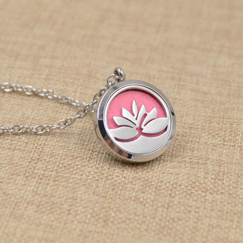 2016 Fashion Jewelry Flower Love Pendant Locket Necklace Yoga Essential Oil Perfume Diffuser Statement Sweater Collars Choker - onlinejewelleryshopaus