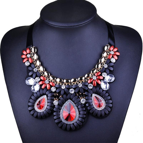 Crystal Beads Necklaces & Pendants Women Collares Statement Necklace Ethnic Jewelry For Personalised Gifts Party - onlinejewelleryshopaus