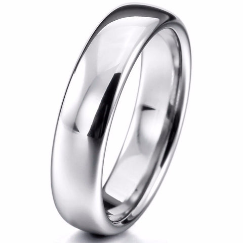 Women Men's Wide 6mm Tungsten ring Band Silver Tone Comfort Fit Wedding Free Shipping wholesale